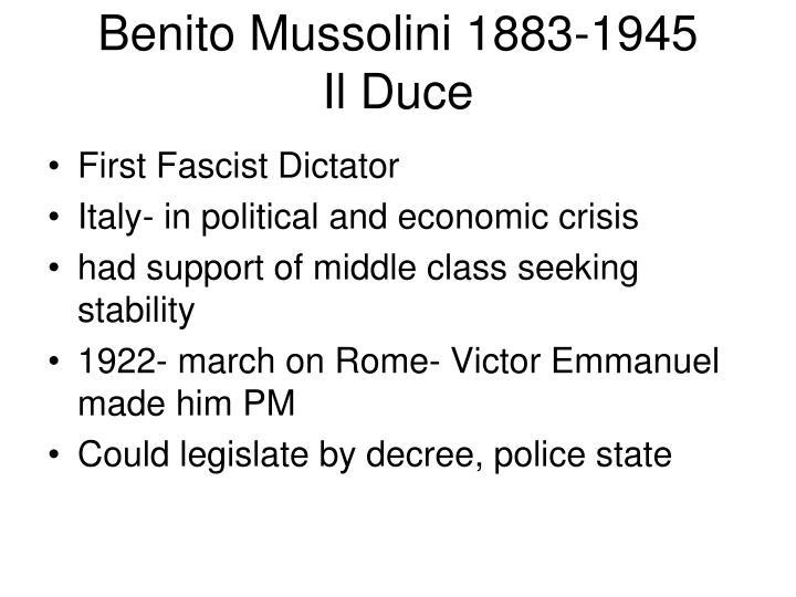 Benito mussolini 1883 1945 il duce