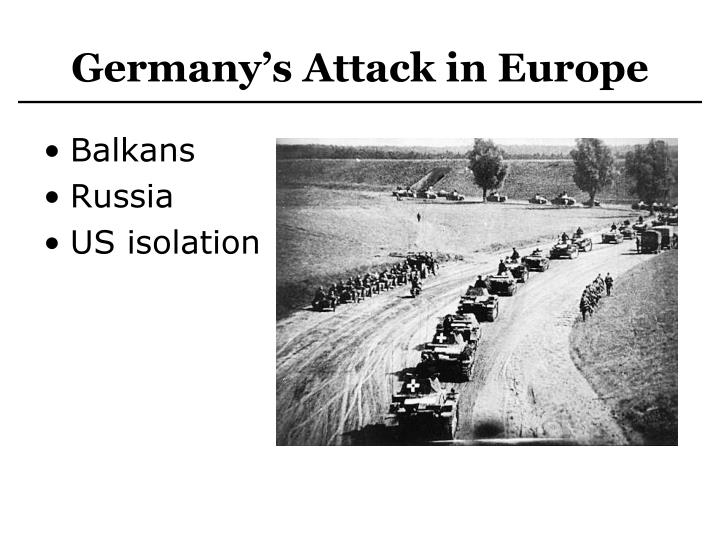 Germany's Attack in Europe