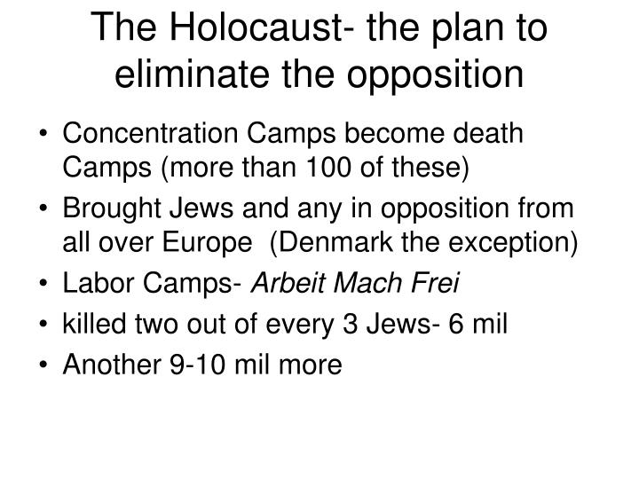 The Holocaust- the plan to