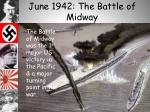 june 1942 the battle of midway