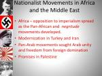 nationalist movements in africa and the middle east