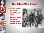 the allied war effort