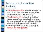darwinian vs lamarckian evolution