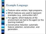 example language