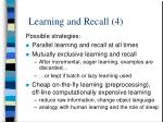 learning and recall 4