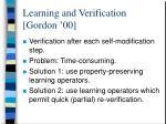 learning and verification gordon 00