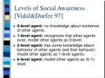 levels of social awareness vidal durfee 97