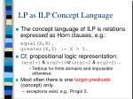 lp as ilp concept language