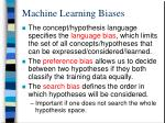 machine learning biases