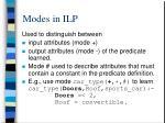 modes in ilp1