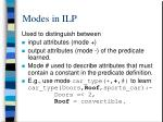 modes in ilp2