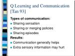 q learning and communication tan 93
