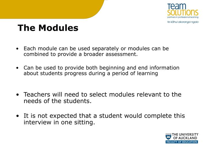 The Modules