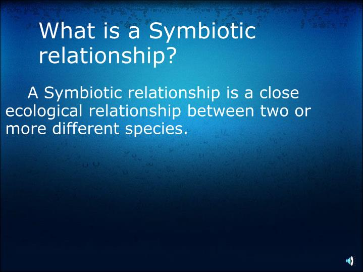 What is a Symbiotic relationship?