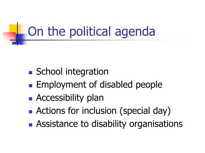 On the political agenda