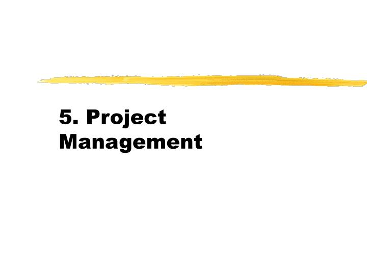 5 project management n.