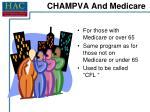 champva and medicare