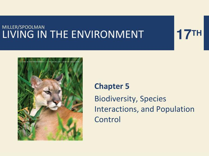 chapter 5 biodiversity species interactions and population control n.