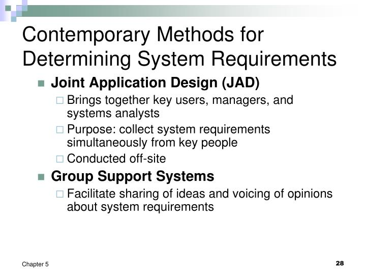 Contemporary Methods for Determining System Requirements
