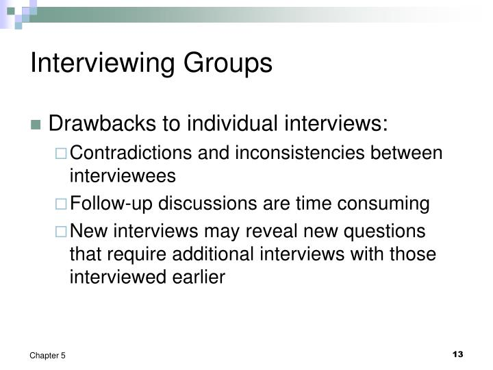 Interviewing Groups