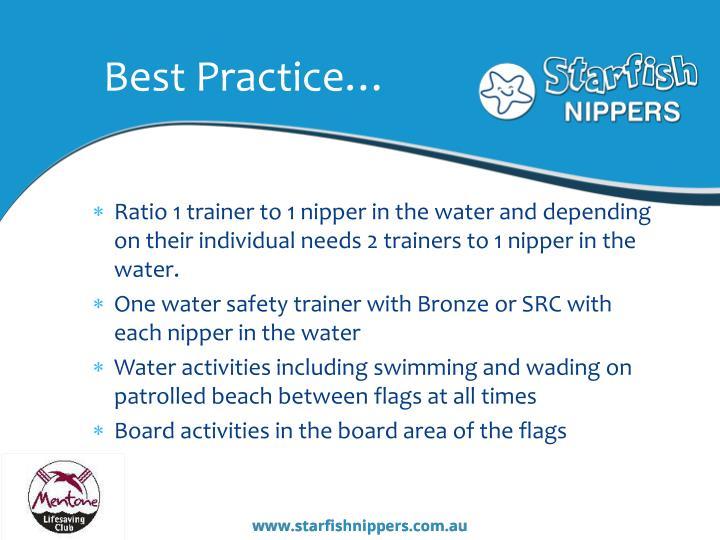 Best Practice…