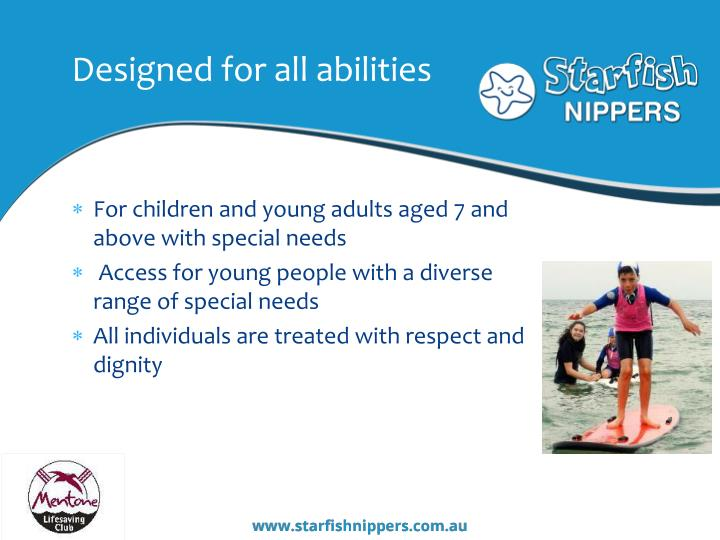 Designed for all abilities