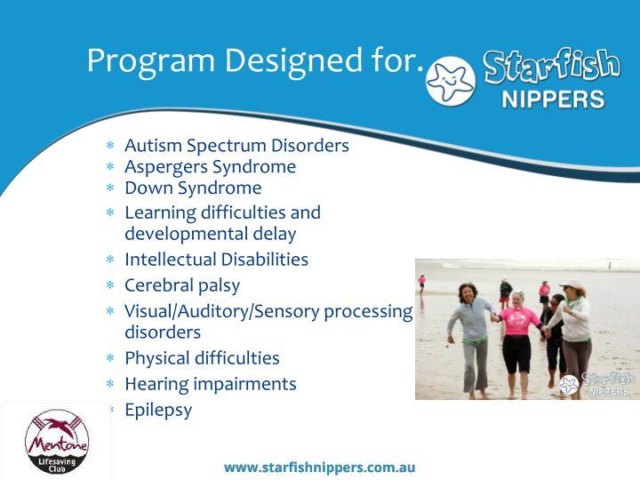 Program designed for
