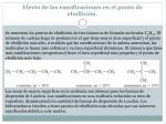 efecto de las ramificaciones en el punto de ebullici n