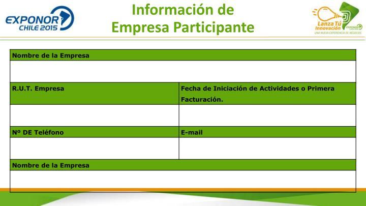 Información de