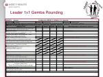 leader 1x1 gemba rounding