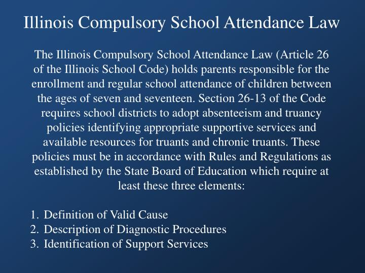 Illinois Compulsory School Attendance Law