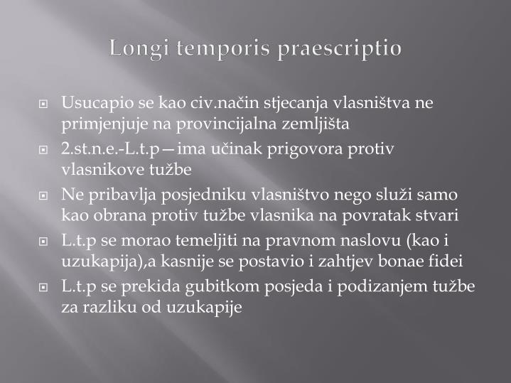Longi temporis praescriptio
