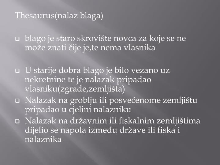 Thesaurus(nalaz blaga)
