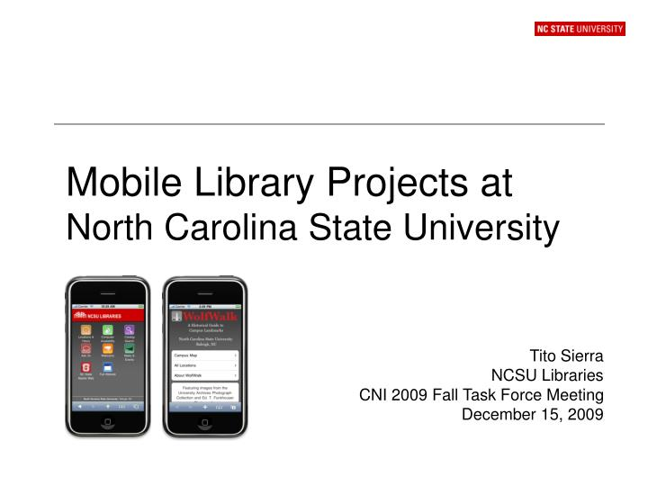 mobile library projects at north carolina state university n.
