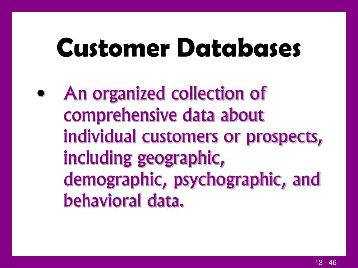 Customer Databases