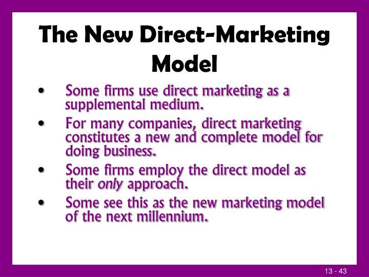 The New Direct-Marketing Model
