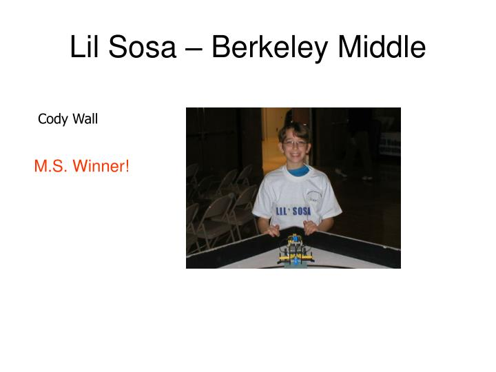 Lil Sosa – Berkeley Middle