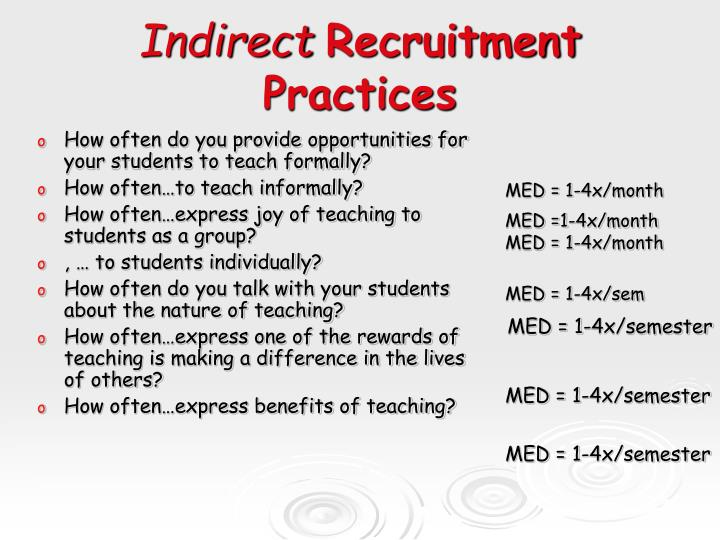 How often do you provide opportunities for your students to teach formally?