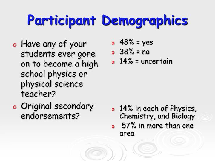 Have any of your students ever gone on to become a high school physics or physical science teacher?