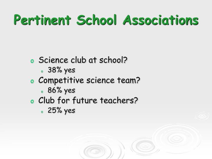Pertinent School Associations