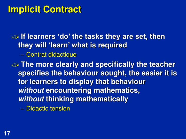 Implicit Contract