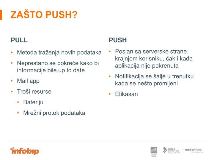 Zašto push?