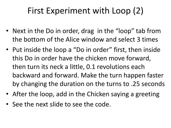 First Experiment with Loop (2)