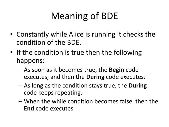 Meaning of BDE