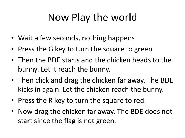 Now Play the world