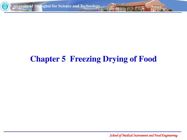 PPT - Chapter 5 Freezing Drying of Food PowerPoint