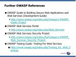 further owasp references