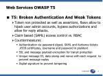 web services owasp t5