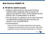 web services owasp t8