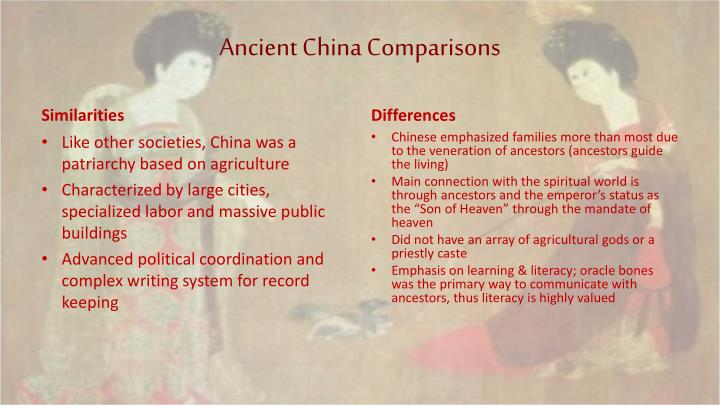 Ancient China Comparisons